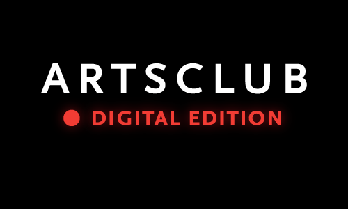 The Arts Club Digital Edition logo, featuring a red dot suggesting a live streaming video